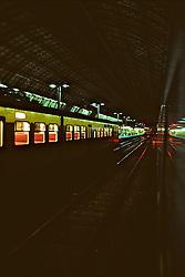 Inside Train Station At Night