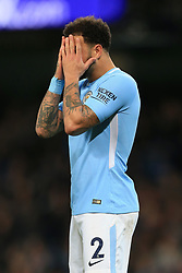 3rd December 2017 - Premier League - Manchester City v West Ham United - Kyle Walker of Man City looks dejected - Photo: Simon Stacpoole / Offside.