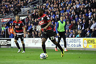 Queens Park Rangers David Hoilett in action. Skybet football league championship play off semi final, 1st leg match, Wigan Athletic v QPR at the DW Stadium in Wigan, England on Friday 9th May 2014.<br /> pic by Chris Stading, Andrew Orchard sports photography.