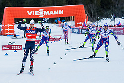 Pellegrino Federico of Italy wins final heat behind him Gros Baptiste 2nd and Jouve Richard 3rd of France during Mans 1.2 km Free Sprint race at FIS Cross Country World Cup Planica 2016, on January 16, 2016 at Planica, Slovenia. Photo By Grega Valancic / Sportida