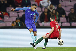 (L-R) Kenny Tete of Holland, Mario Rui of Portugal during the International friendly match match between Portugal and The Netherlands at Stade de Genève on March 26, 2018 in Geneva, Switzerland