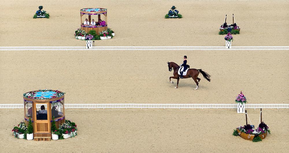 Engeland, Londen, 09-08-2012.<br /> Olympische Spelen.<br /> Hippische sport, Dressuur.<br /> Adelinde Cornelissen wint zilver.<br /> Foto : Klaas Jan van der Weij