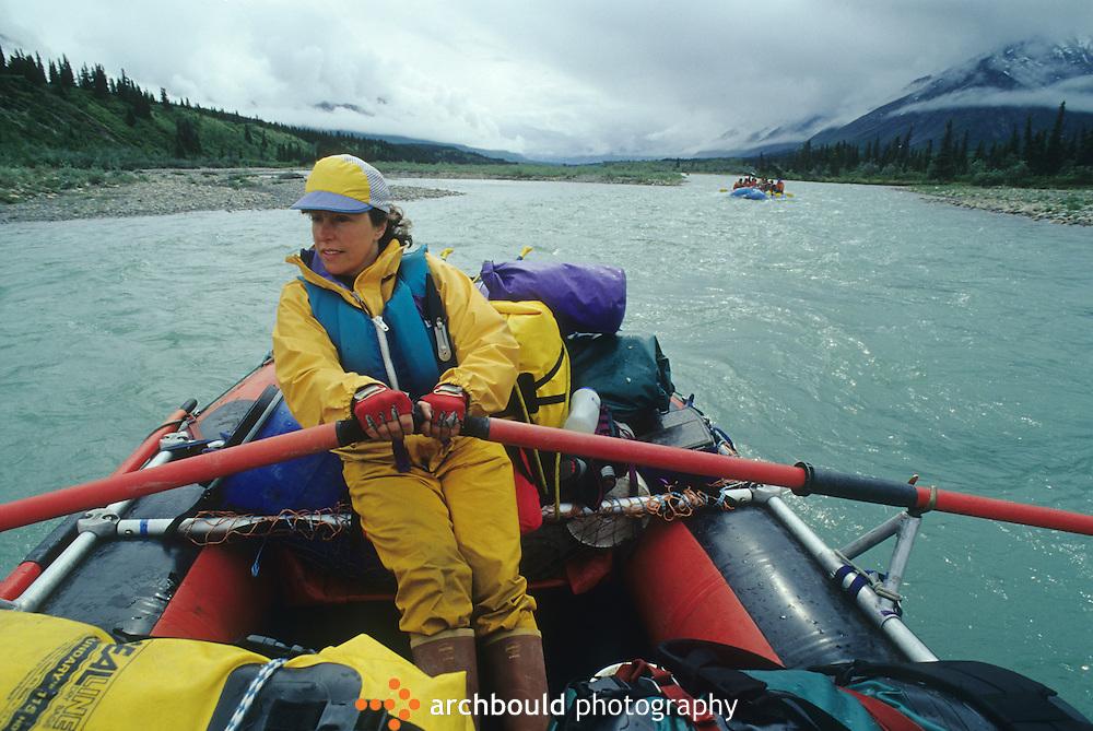 Rafting on Snake River, Yukon