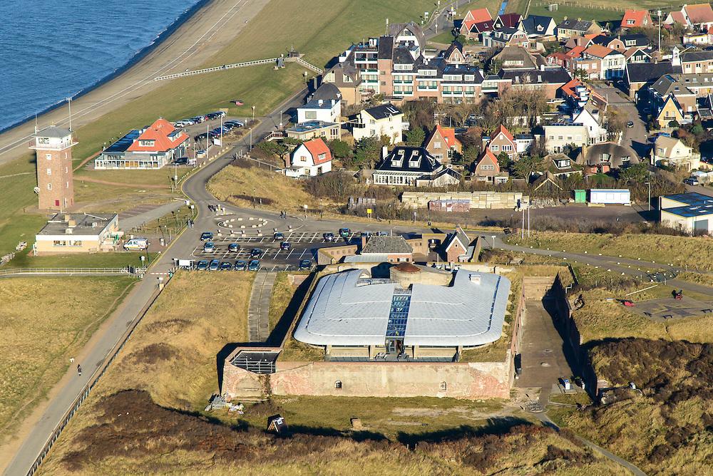 Nederland, Noord-Holland, Den Helder, 11-12-2013; Huisduinen, Fort Kijkduin.<br /> Historical fortress, coastal battery, North Holland<br /> luchtfoto (toeslag op standaard tarieven);<br /> aerial photo (additional fee required);<br /> copyright foto/photo Siebe Swart.