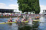Henley Royal Regatta, Henley on Thames, Oxfordshire, 28 June - 2 July 2017.  Saturday  16:18:01   01/07/2017  [Mandatory Credit/Intersport Images]<br /> <br /> Rowing, Henley Reach, Henley Royal Regatta.<br /> <br /> The Women's Four<br />  Hollandia Roeiclub, Netherlands v  Vesper Boat Club and Princeton National Rowing Association, U.S.A.