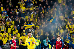 March 26, 2019 - Oslo, NORWAY - 190326 Markus Henriksen of Norway, Marcus Berg of Sweden and Ole Kristian Selnæs of Norway during the UEFA Euro qualifier football match between Norway and Sweden on March 26, 2019 in Oslo..Photo: Jon Olav Nesvold / BILDBYRÃ…N / kod JE / 160435 (Credit Image: © Jon Olav Nesvold/Bildbyran via ZUMA Press)