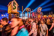 Crowds in Shangri-la - The 2019 Glastonbury Festival, Worthy Farm. Glastonbury, 27 June 2019