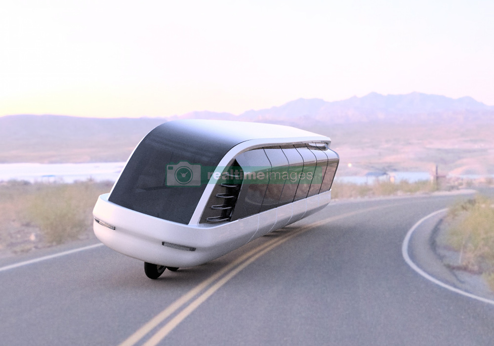 "August 22, 2017 - inconnu - A motorcycle bus able to link small remote towns where roads are narrow, has been unveiled.The Siroco is a gyroscopic motorcycle-bus designed to carry multiple passengers at a time. Even though the body is around the size of a city bus—it would stay upright due to its advanced gyroscopic technology and a smart auto pilot control system.Canada-based Imaginactive designer Charles Bombardier said :"" The Siroco is made to offer the same feeling as riding a motorcycle while it carries a dozen people in climate-controlled comfort. ""Its panoramic windows would offer an excellent view of the countryside and LCD screens could be embedded in the window panels to stream online shows and movies, provide information about location and travel times for example.He added:"" The fact that this vehicle has only one row of wheels would allow it to take on curves faster, take less space on the road, and save energy with an aerodynamic body. ""The Siroco could be used to transport passengers between smaller towns with a population of less than 15,000 people and ride on existing narrow roads. Its suspension system could be designed to ride on rougher terrain or smooth pavement. The current seating arrangement is one centre aisle with a single row of seats on each side.The gyroscopic technology would permit the Siroco to stay upright at any speed, and it would balance itself when it's turning or when weight of the passengers isn't distributed equally within. The internal battery pack could also move with a motor to help adjust the centre of gravity. An onboard computer would calculate in real time the orientation, acceleration turbulence, and vibrations and make adjustments to make the ride more enjoyable for its passengers.The Siroco could be used to ferry passengers on routes that are not being serviced by major bus lines today. Its operating cost would be lower than a regular bus—if you factor in occupancyâ�"