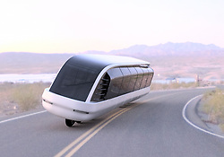 """August 22, 2017 - inconnu - A motorcycle bus able to link small remote towns where roads are narrow, has been unveiled.The Siroco is a gyroscopic motorcycle-bus designed to carry multiple passengers at a time. Even though the body is around the size of a city bus—it would stay upright due to its advanced gyroscopic technology and a smart auto pilot control system.Canada-based Imaginactive designer Charles Bombardier said :"""" The Siroco is made to offer the same feeling as riding a motorcycle while it carries a dozen people in climate-controlled comfort. """"Its panoramic windows would offer an excellent view of the countryside and LCD screens could be embedded in the window panels to stream online shows and movies, provide information about location and travel times for example.He added:"""" The fact that this vehicle has only one row of wheels would allow it to take on curves faster, take less space on the road, and save energy with an aerodynamic body. """"The Siroco could be used to transport passengers between smaller towns with a population of less than 15,000 people and ride on existing narrow roads. Its suspension system could be designed to ride on rougher terrain or smooth pavement. The current seating arrangement is one centre aisle with a single row of seats on each side.The gyroscopic technology would permit the Siroco to stay upright at any speed, and it would balance itself when it's turning or when weight of the passengers isn't distributed equally within. The internal battery pack could also move with a motor to help adjust the centre of gravity. An onboard computer would calculate in real time the orientation, acceleration turbulence, and vibrations and make adjustments to make the ride more enjoyable for its passengers.The Siroco could be used to ferry passengers on routes that are not being serviced by major bus lines today. Its operating cost would be lower than a regular bus—if you factor in occupancyâ�"""