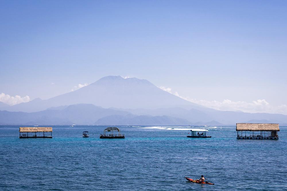 View of Mount Agung from Nusa Lembongan