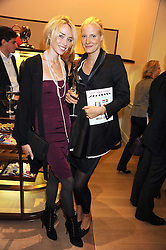 Left to right, NOELLE RENO and KIRSTIN PETERSON at a party to celebrate the publication of Shop Your Closet - the ultimate guide to organisingyour closet with style by Melanie Charlton-Fascitelli held at Asprey, New Bond Street, London on 16th September 2008.