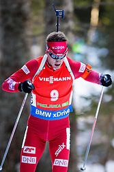 Tarjei Boe (NOR) competes during Men 12,5 km Pursuit at day 3 of IBU Biathlon World Cup 2015/16 Pokljuka, on December 19, 2015 in Rudno polje, Pokljuka, Slovenia. Photo by Ziga Zupan / Sportida