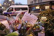 """Jewish prayer and I am Jewish, I am Charlie, I am a policeman<br /><br />French and Jews come together to make a vigil outside a Kosher supermarket in Porte Vincennes, Paris, France. Yesterday this Kosher supermarket was the scene of a hostage taking and followed by an armed shoot out between Jihadist gunmen and French police. It ended in a shoot out and with the death of the terrorists. Some hostages were killed and police injured.<br /><br />This event was directly linked to the attack on the offices of Charlie Hebdo, killing twelve people, including the editor and celebrated cartoonists two days before. This week was the deadliest week of terror attacks in France for over fifty years. Charlie Hebdo is a satirical publication well known for its political cartoons. <br /><br />As a solidarity actions with the deaths at Charlie Hebdo many placards read """"Je suis Charlie"""" translating as """"I am Charlie (Hebdo)"""". Demonstrators held aloft pens, brushes and crayons, symbolizing the profession of journalists and cartoonists who were killed."""
