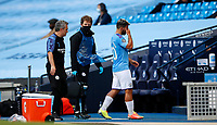 Football - 2019 / 2020 Premier League - Manchester City vs. Burnley<br /> <br /> Sergio Aguero of Manchester City goes off  at the Etihad Stadium. <br /> <br /> <br /> COLORSPORT/LYNNE CAMERON
