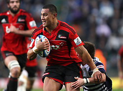 Crusaders centre Robert Fruean breaks through Stormers scrumhalf Louis Schreuder tackle during the Super Rugby Semi-Final match between DHL Stormers and the Crusaders held at DHL Newlands Stadium in Cape Town, South Africa on 2 July 2011...Photo by Shaun Roy / Sportzpics.net