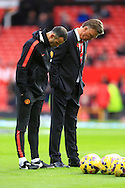 Louis Van Gaal, manager of Manchester United and assistant Ryan Giggs look glum - Manchester United vs. Crystal Palace - Barclay's Premier League - Old Trafford - Manchester - 08/11/2014 Pic Philip Oldham/Sportimage