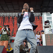 WASHINGTON, DC - August 17th, 2013 -  Rapper Casey Veggies performs at the 2013 Trillectro Festival at the Half Street Fairgrounds in Washington, D.C.  (Photo by Kyle Gustafson / For The Washington Post)