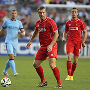 Rickie Lambert, Liverpool, in action during the Manchester City Vs Liverpool FC Guinness International Champions Cup match at Yankee Stadium, The Bronx, New York, USA. 30th July 2014. Photo Tim Clayton