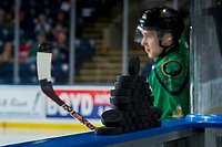 KELOWNA, CANADA - MARCH 18: Gordie Ballhorn #4 of the Kelowna Rockets enters the ice against the Vancouver Giants on March 1, 2018 at Prospera Place in Kelowna, British Columbia, Canada.  (Photo by Marissa Baecker/Shoot the Breeze)  *** Local Caption ***