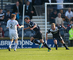 Falkirk's Kris Faulds (17) cele scoring their goal. Raith Rovers 1 v 1 Falkirk, Scottish Championship 28/9/2013.<br /> ©Michael Schofield.