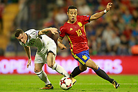 Spain's Thiago Alcantara (r) and Albania's Taulant Xhaka during FIFA World Cup 2018 Qualifying Round match. October 6,2017.(ALTERPHOTOS/Acero)
