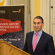 08.12.2016                   <br /> Pictured at the launch of the Shannon Airport Christmas Racing Festival at Hunt Museum was Conor O'Neill, Limerick Racecourse. Picture: Alan Place