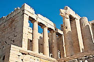 The Propylaea was the main entrance to the Acropolis in Athens, Greece