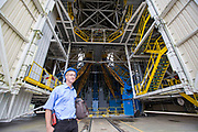 Mcc0084404 . Daily Telegraph<br /> <br /> Aeolus Satellite Launch<br /> <br /> Denis Dhelft, Russian Interface assistant at Ariane Space .<br /> <br /> Inside the Soyuz Launch site at the European Space Centre in Kourou , French Guiana .<br /> Soyuz have been launching at the south American site since 2011 .<br /> <br /> Kourou, French Guiana 22 August 2018
