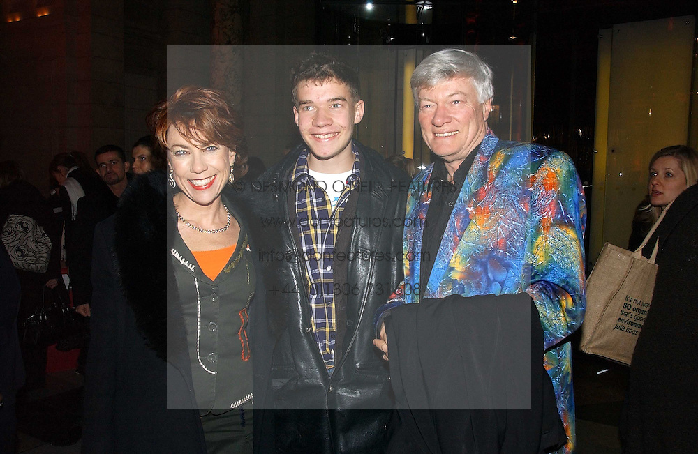 "MR GEOFFREY ROBERTSON QC, his wife writer KATHY LETTE and their son JULIUS ROBERTSON attend opening night of ""Kylie - The Exhibition"" at Victoria & Albert Museum February 6, 2007 in London.<br />