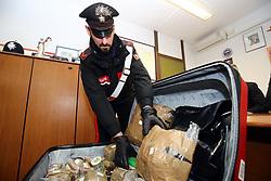 CONFERENZA CARABINIERI SEQUESTRO DROGA STUPEFACENTI OVULI HASHISH IN ZONA GAD A FERRARA
