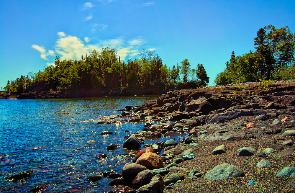 Sugarloaf Cove is a 27 acre site on Lake Superior adjacent to Sugarloaf Cove Scientific and Natural Area. Sugarloaf has a 1 mile interpretive trail, cobblestone beaches, forest restoration sites and an interpretive center.
