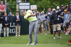 May 5, 2019 - Charlotte, North Carolina, United States of America - Sergio Garcia tees off on the first hole during the final round of the 2019 Wells Fargo Championship at Quail Hollow Club on May 05, 2019 in Charlotte, North Carolina. (Credit Image: © Spencer Lee/ZUMA Wire)