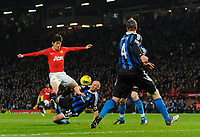 20120131: MANCHESTER, UK - Barclays Premier League 2011/2012: Manchester United vs Stoke City.<br /> In photo: Park Ji-Sung of Manchester United is disposed by Andy Wilkinson of Stoke City.<br /> PHOTO: CITYFILES