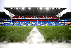 A general view of the pitch at Cardiff City Stadium before the match begins