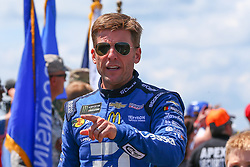 July 29, 2018 - Long Pond, PA, U.S. - LONG POND, PA - JULY 29:  Monster Energy NASCAR Cup Series driver Jamie McMurray Arctic Cat Chevrolet (1) during driver introductions prior to the Monster Energy NASCAR Cup Series - 45th Annual Gander Outdoors 400 on July 29, 2018 at Pocono Raceway in Long Pond, PA. (Photo by Rich Graessle/Icon Sportswire) (Credit Image: © Rich Graessle/Icon SMI via ZUMA Press)