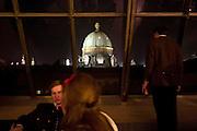 """Wien/Oesterreich, AUT, 28.01.2008: Blick auf die Wiener Skyline waehrend dem Jaegerball in der Wiener Hofburg.<br /> <br /> Vienna/Austria, AUT, 28.01.2008: View to the Vienna skyline during the Hunters Ball (Jaegerball) from the top of """"Hofburg"""" in Vienna."""