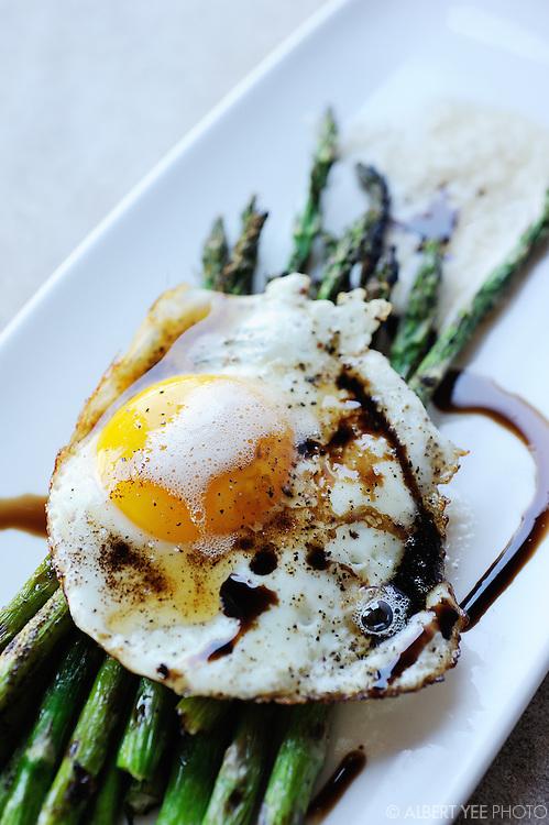 Asparagus & eggs appetizer<br /> <br /> The Yardley Inn<br /> <br /> February 28, 2014