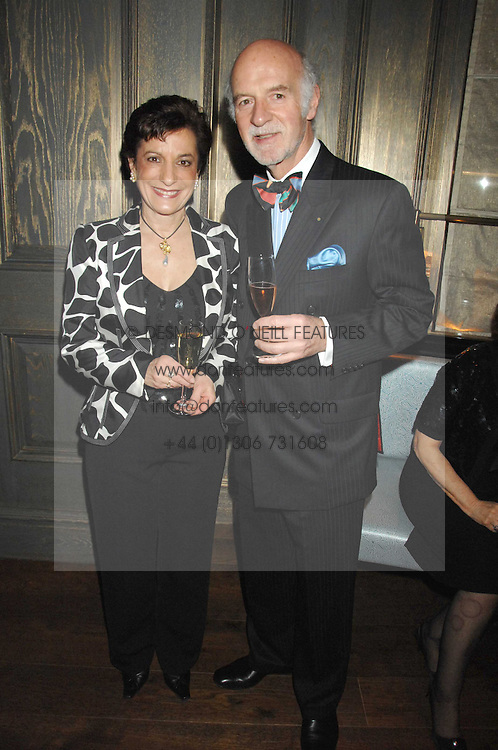 MR & MRS ANTON MOSIMANN at a party to promote The Landau at The Langham, Portland Place, London W1 on 7th February 2008.<br /><br />NON EXCLUSIVE - WORLD RIGHTS