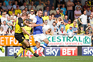 Burton Albion defender Jake Buxton (23) clears the ball during the EFL Sky Bet Championship match between Burton Albion and Sheffield Wednesday at the Pirelli Stadium, Burton upon Trent, England on 26 August 2017. Photo by Richard Holmes.