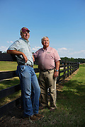 6/19/12 12:11:05 -- McDonough, GA, U.S.A<br />  -- <br /> Jimmy Carter,r, and his son Jake Carter at their Southern Belle Farm in McDonough, GA<br /> <br /> Photo by Michael  A. Schwarz,
