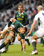 Twickenham; GREAT BRITAIN;  during the Investec Challenge Series; England vs South Africa; Autumn International at Twickenham Stadium; Surrey on Saturday  -  27/11/2010.   [Mandatory Credit; Photo, Peter Spurrier/Intersport-images]Twickenham; GREAT BRITAIN;   RSA No. 8 Pierre SPIES, attacking the line during the Investec Challenge Series; England vs South Africa; Autumn International at Twickenham Stadium; Surrey on Saturday  -  27/11/2010.   [Mandatory Credit; Photo, Peter Spurrier/Intersport-images]