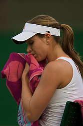 LONDON, ENGLAND - Monday, June 23, 2008: Ashley Harkleroad (USA) looks dejected during her first round defeat on day one of the Wimbledon Lawn Tennis Championships at the All England Lawn Tennis and Croquet Club. (Photo by David Rawcliffe/Propaganda)