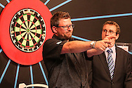 James Wade after his victory over Kyle Anderson during the First Round of the BetVictor World Matchplay Darts at the Empress Ballroom, Blackpool, United Kingdom on 19 July 2015. Photo by Shane Healey.