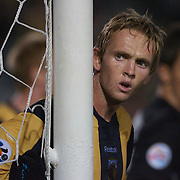 Brad Porter in action during the group H group stage match between the Central Coast Mariners of Australia and Pohang Steelers of Korea in Gosford, Australia on March 11 2009, The match ended in a 0-0 draw. Photo Tim Clayton