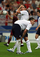Photo: Chris Ratcliffe.<br /> England v Portugal. Quarter Finals, FIFA World Cup 2006. 01/07/2006.<br /> Gutted John Terry and Frank Lampard.