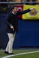 January 10, 2018 - Vila-Real, Castellon, Spain - Javier Calleja head coach of Villarreal CF reacts during the Copa del Rey Round of 16, second leg game between Villarreal CF and CD Leganes on January 10, 2018 in Vila-real, Spain  (Credit Image: © David Aliaga/NurPhoto via ZUMA Press)