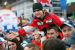 Young fan at e.on Ruhrgas FIS World Cup Ski Jumping on K215 ski flying hill, on March 14, 2008 in Planica, Slovenia . (Photo by Vid Ponikvar / Sportal Images)./ Sportida)