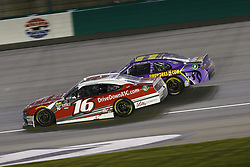July 13, 2018 - Sparta, Kentucky, United States of America - Ryan Reed (16) and Ryan Truex (11) battle for position during the Alsco 300 at Kentucky Speedway in Sparta, Kentucky. (Credit Image: © Chris Owens Asp Inc/ASP via ZUMA Wire)