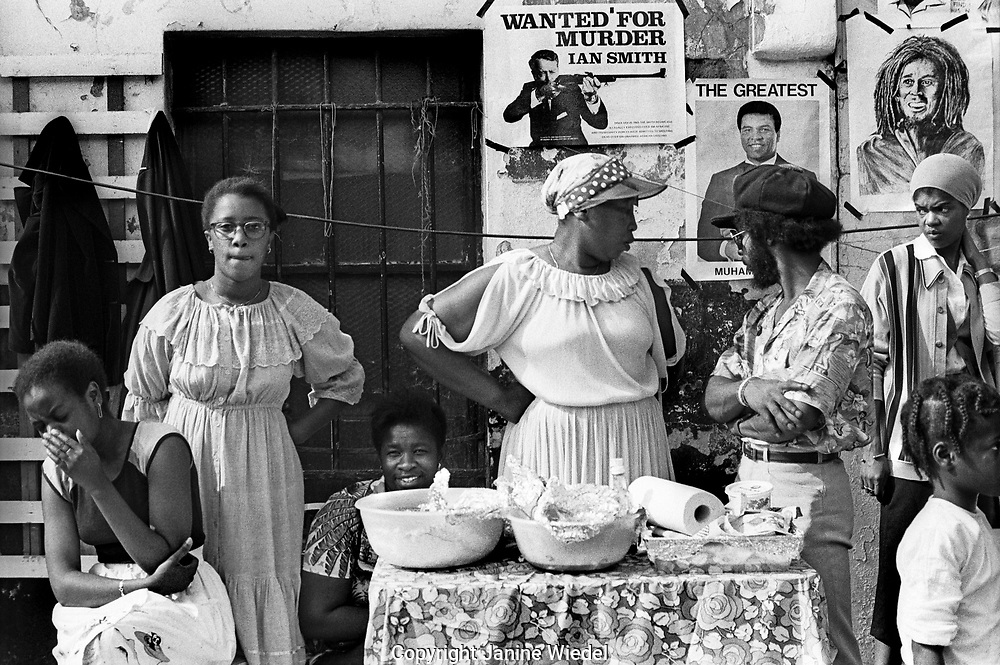 Jamaicans at the Notting Hill Carnival in the 1970s