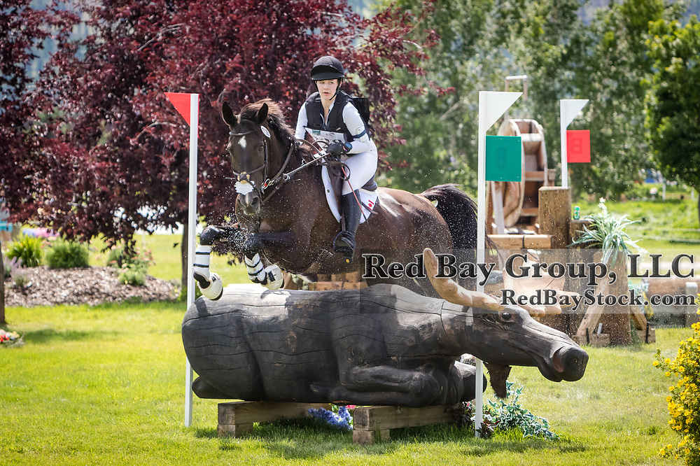Sierra Hincks (BC/ON) and Velocity at the North American Youth Championships held during the The Event at Rebecca Farm in Kalispell, Montana.